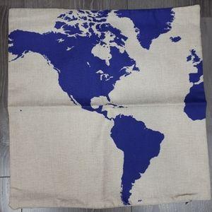Map Cushion Cover